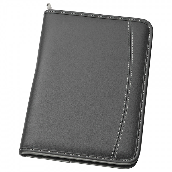 A5 Zippered Compendium with Polyester Interior
