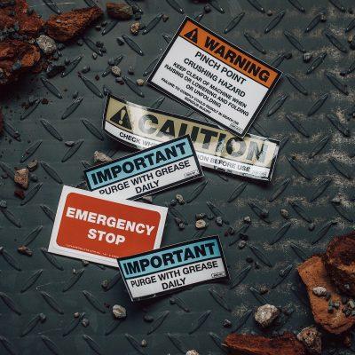Warning Stickers - RUGGED